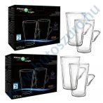 FilterLogic CFL-675B duplafalú thermo latte pohár - 4db