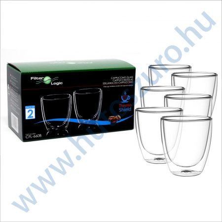 FilterLogic CFL-660B duplafalú thermo cappuccino pohár - 6db