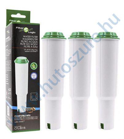 3 db FilterLogic CFL-801B - Jura White kávéfőző vízlágyító vízszűrő helyettesítő termék