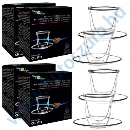 FilterLogic CFL-657B duplafalú espresso csésze - 4db