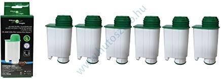 6 db FilterLogic CFL-902B Philips BRITA INTENZA + CA6702/10 kompatibilis kávéfőző vízszűrő vízlágyító