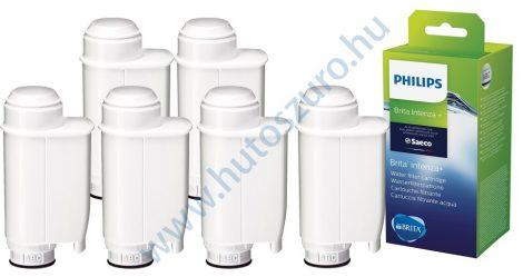 6 db-os Philips BRITA INTENZA + CA6702/10 kávéfőző vízszűrő vízlágyító