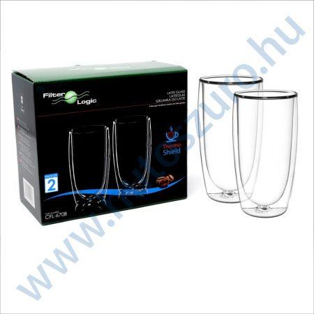 FilterLogic CFL-670B duplafalú thermo latte pohár - 2db