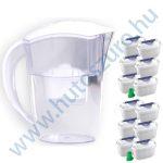 Vízszűrő kancsó FilterLogic FLJ402 - fehér színben, 2,4 liter - 12 db maxtra típusú szűrőbetéttel