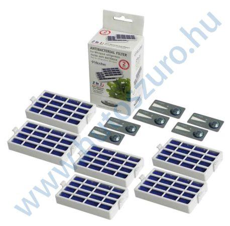 6 db - Microban antibakteriális légszűrő Whirlpool hűtőszekrényhez 480131000232 (ANTF-MIC2)
