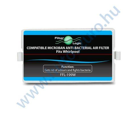 Filterlogic FFL-199W utángyártott antibakteriális légszűrő Whirlpool hűtőszekrényhez