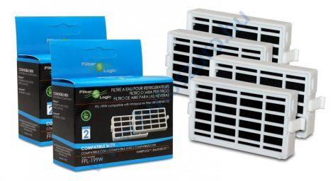 4 db - Filterlogic FFL-199W - Whirlpool antibakteriális szűrő helyett