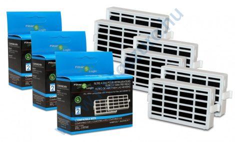 6 db - Filterlogic FFL-199W - Whirlpool antibakteriális szűrő helyett