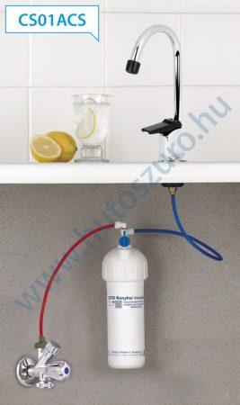 """Pult alatti konyhai vízszűrő rendszer X250 (3/8"""" csatlakozóval, CS01ACS csapteleppel)"""