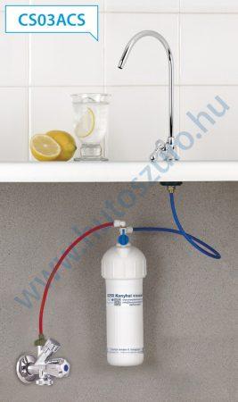 """Pult alatti konyhai vízszűrő rendszer X250 (3/8"""" csatlakozóval, CS03ACS csapteleppel)"""