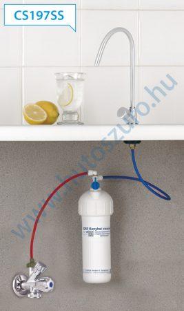 """Pult alatti konyhai vízszűrő rendszer X250 rozsdamentes csapteleppel (3/8"""", CS197SS)"""