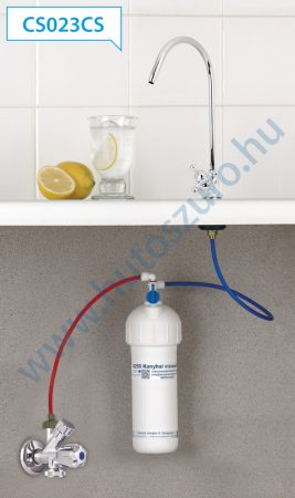 """Konyhai vízszűrő rendszer X250 (1/2"""" csatlakozóval, CS023CS csapteleppel)"""
