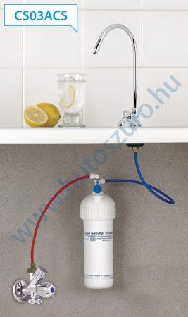 """Pult alatti konyhai vízszűrő rendszer X250 (1/2"""" csatlakozóval, CS03ACS csapteleppel)"""