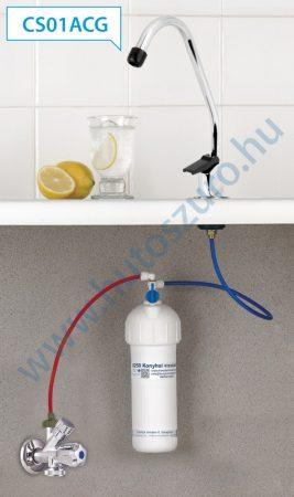 """Pult alatti konyhai vízszűrő rendszer X250 (3/8"""" csatlakozóval, CS01ACG csapteleppel)"""