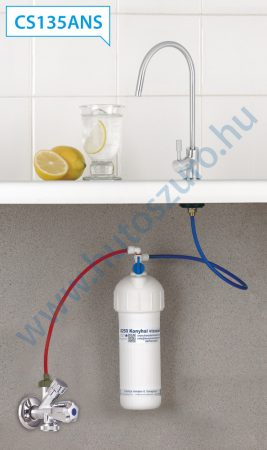 """Pult alatti konyhai vízszűrő rendszer X250P matt, szálcsiszolt csapteleppel (3/8"""", CS135ANS)"""
