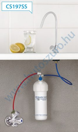 """Konyhai vízszűrő rendszer X250P rozsdamentes csapteleppel (3/8"""", CS197SS)"""
