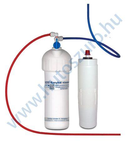 """Pult alatti konyhai vízszűrő rendszer X250 (3/8"""" csatlakozóval, csaptelep nélkül, polifoszfát)"""